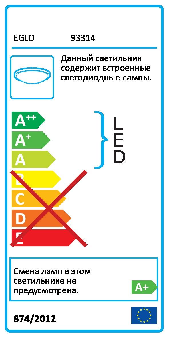 Світильник настінно-стельовий VICARO EGLO 93314 - Фото №30