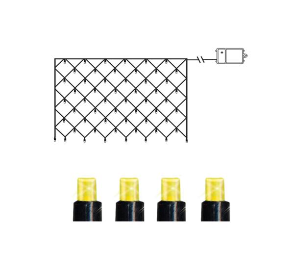 Гирлянда уличная сетка LED на батарейках